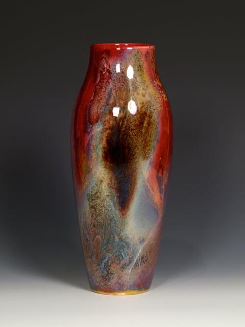 Doulton Flambe Vase Polka Dot Antiques Llc