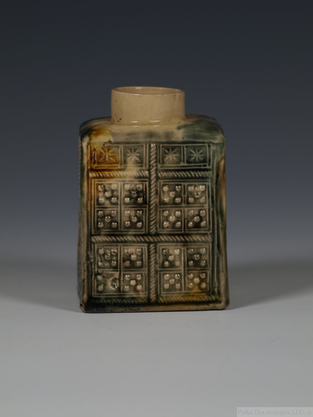 "Staffordshire Whieldon-type Rectangular Tea Caddy, c.1760, 3¾""."
