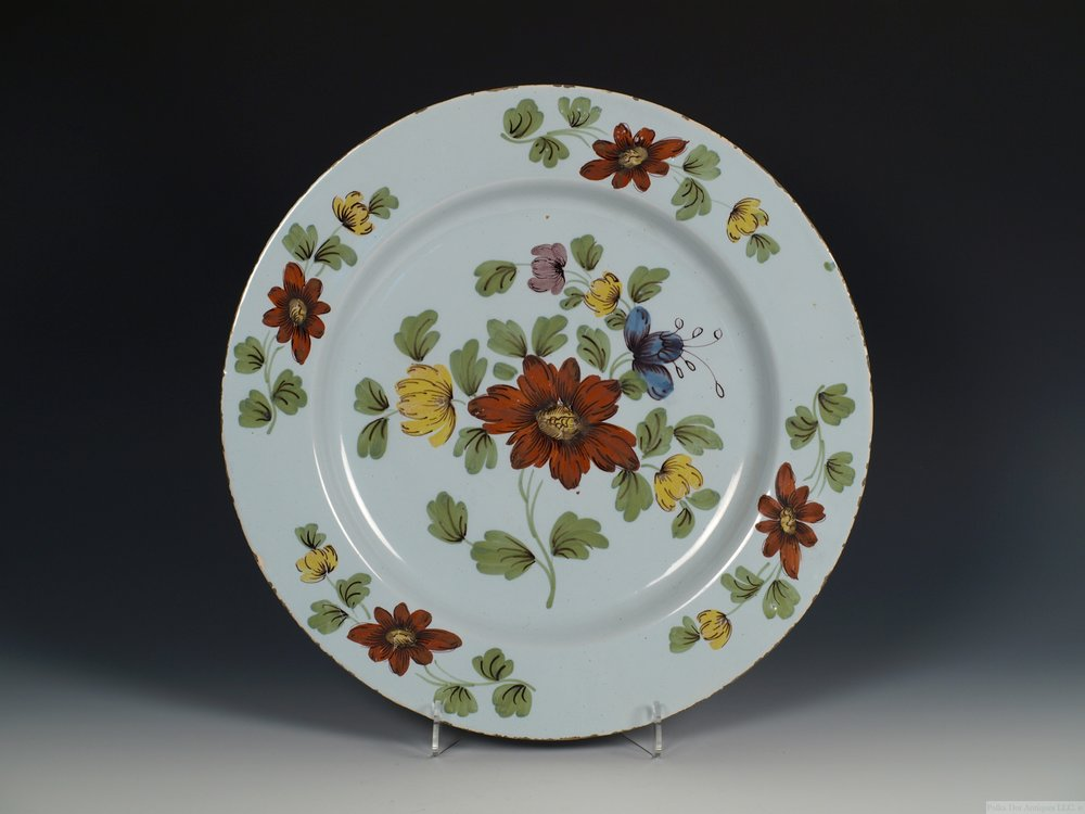 Liverpool Delftware 'Fazackerly' Charger, c.1760
