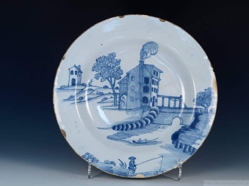 "English Delftware Charger, 1750/70, 12¼""."