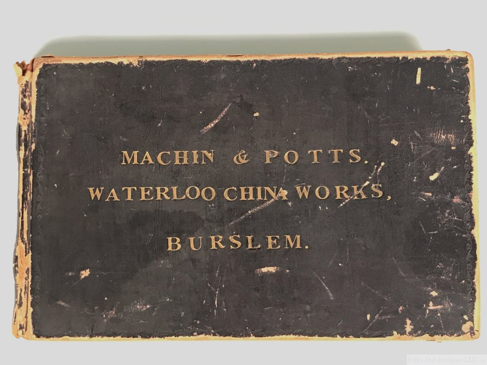 Machin & Potts, Waterloo China Works. Burslem, Shape Book, 1830s, comprising 52 designs.