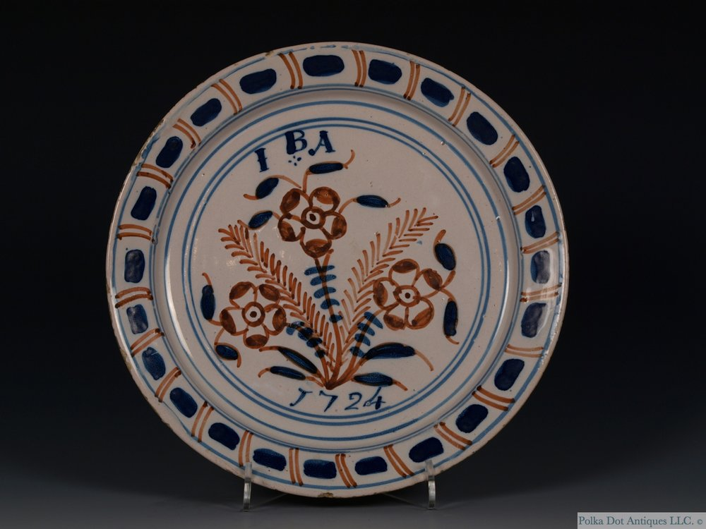 RPW416 Dated English Delft Plate- 2.jpg