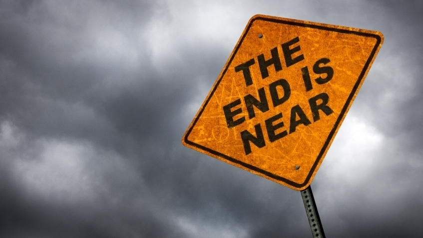 End is near Yellow sign.jpg