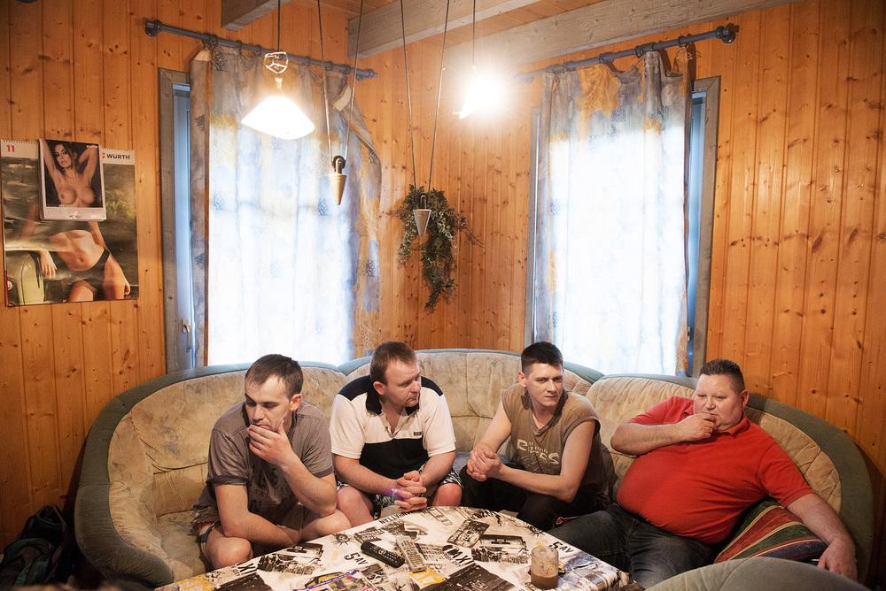 Polske arbejdere hos Danish Crown i Oldenburg i deres lejede sommerhus