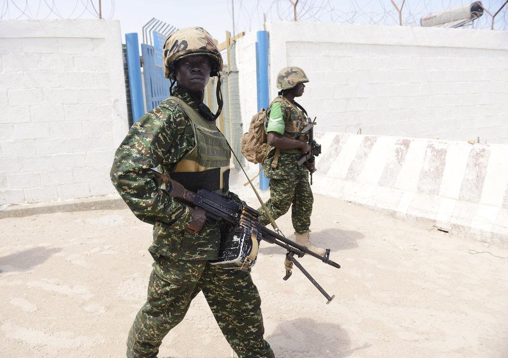 Præsident Hassan Sheik Mohamuds soldater i Mogadishu, Somalia