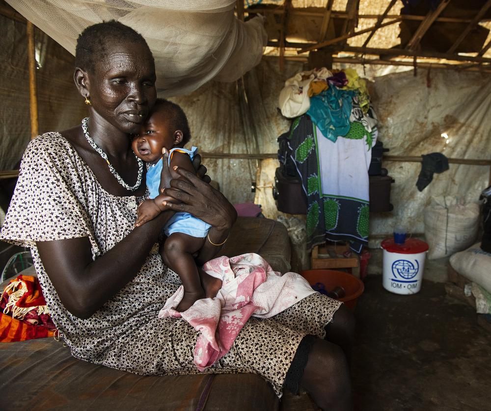 Kvinde i UN flygtningelejr i Juba, Sydsudan