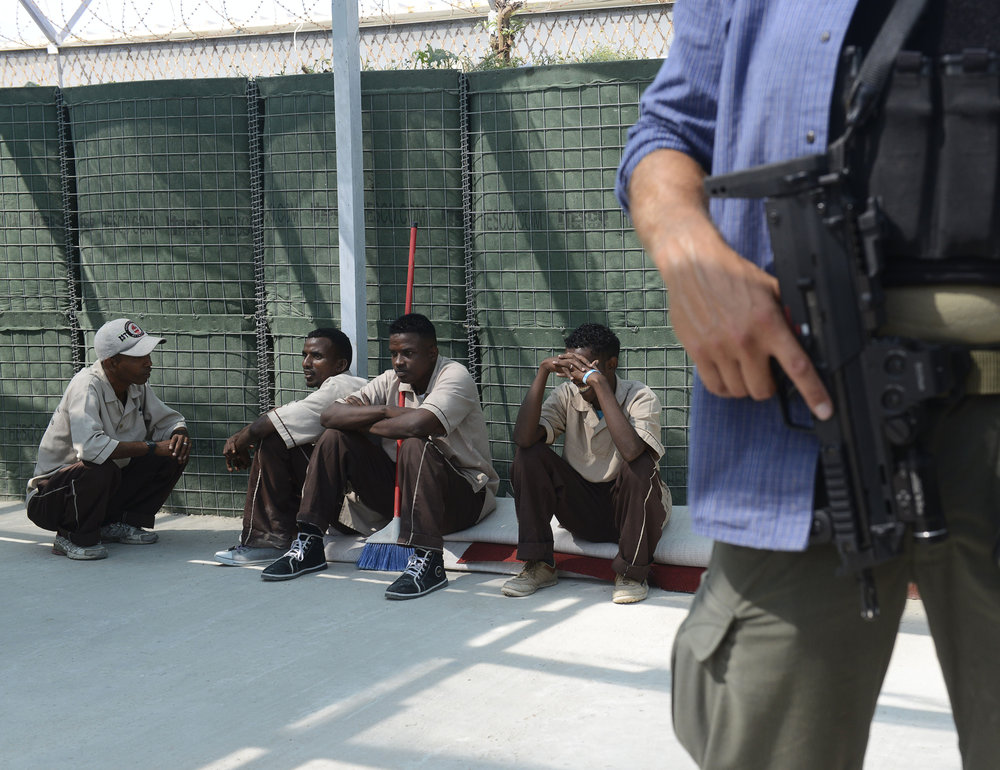 Rengøringspersonale i Mogadishu lufthavn