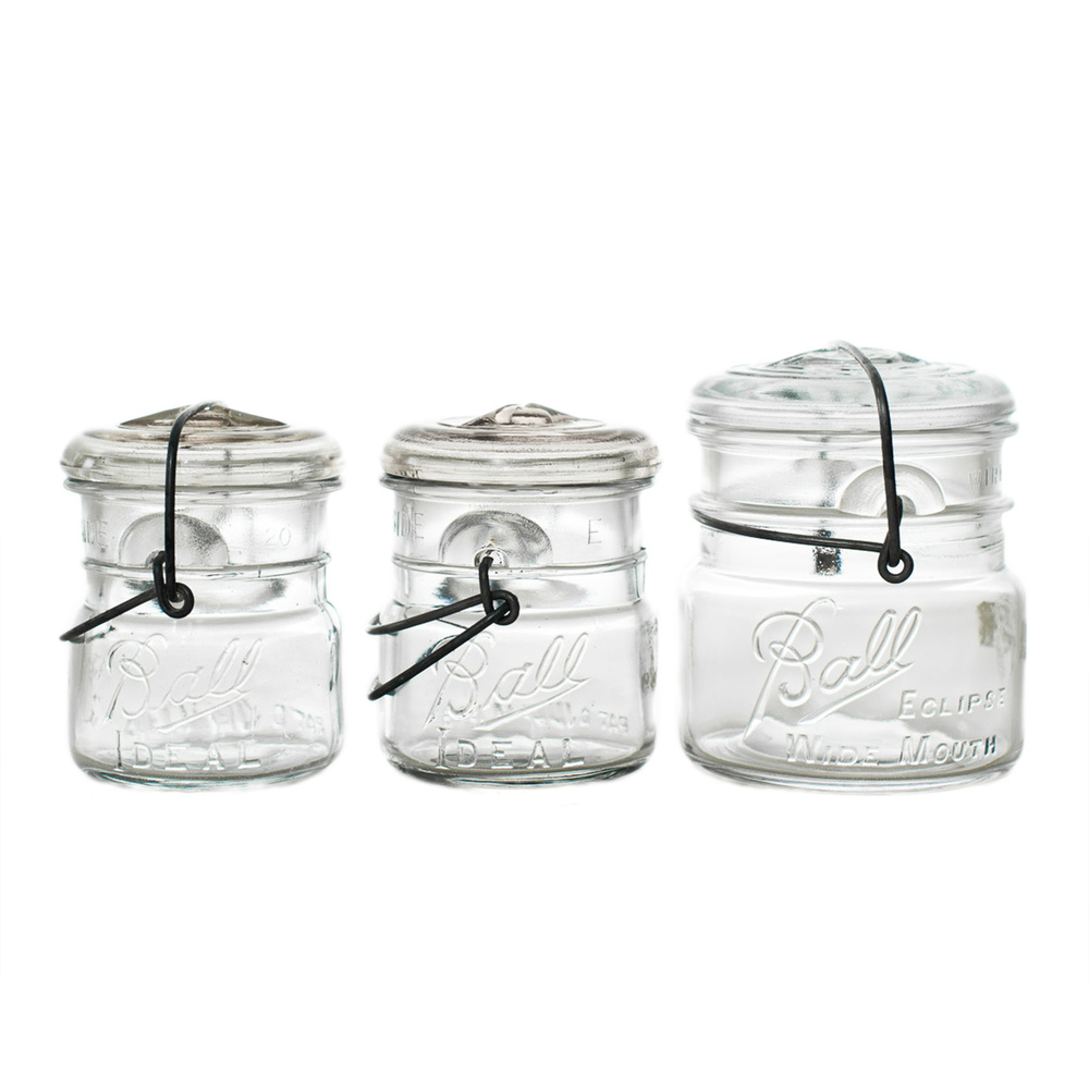 Glass Lid Ball Jars