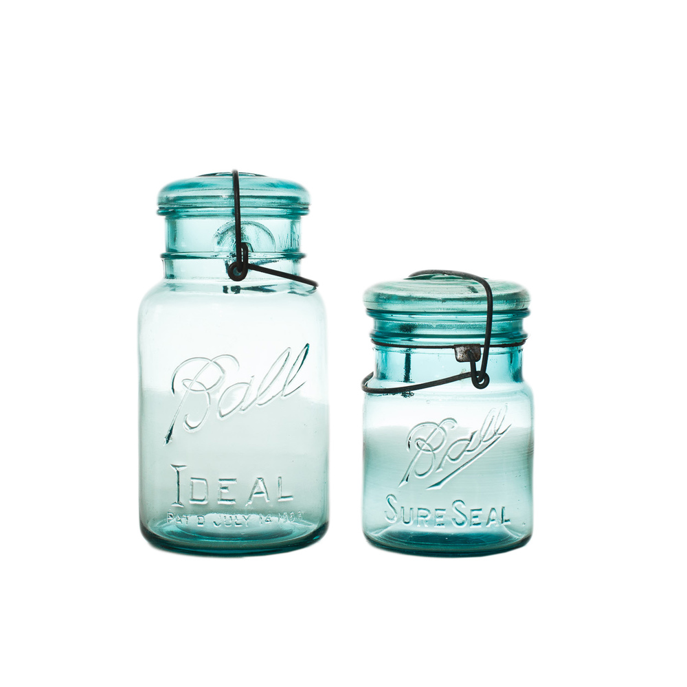 Blue Mason Jar with Lid
