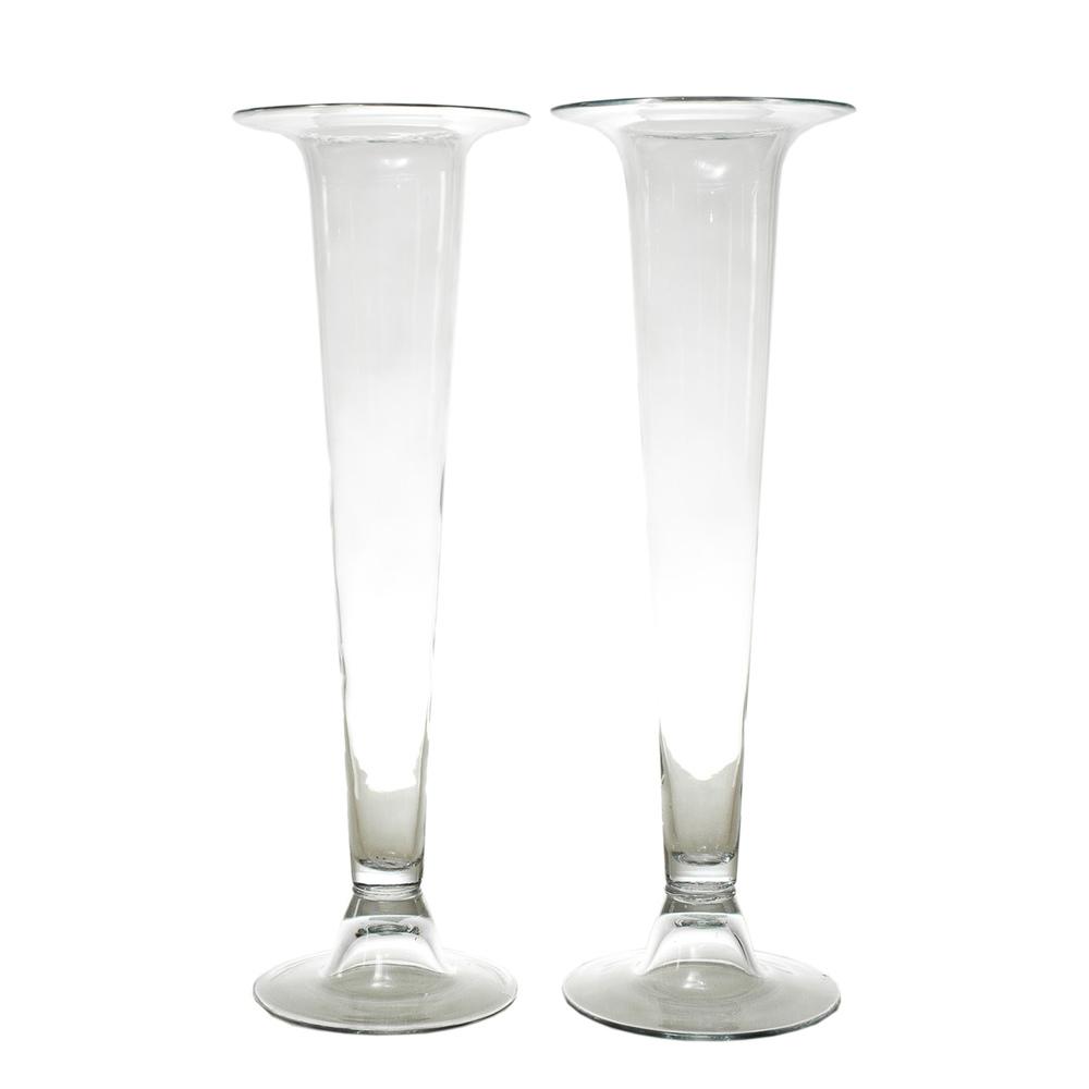 Tall Flute Vases
