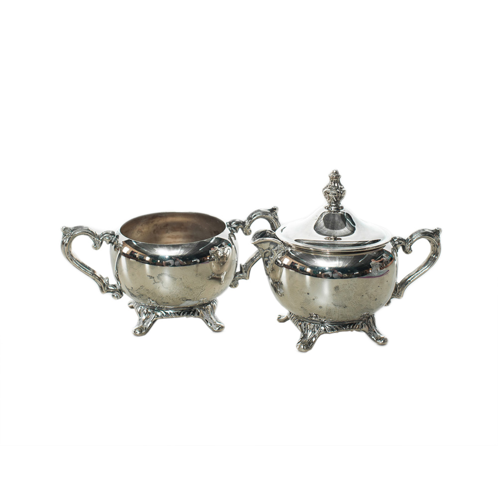 Silver Cream & Sugar Set
