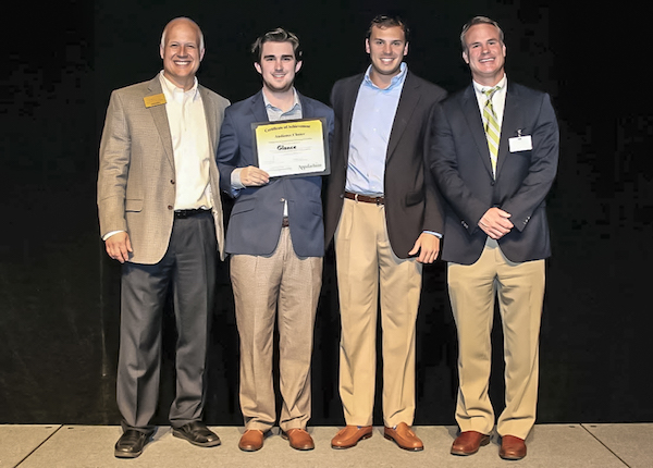 Glance - Erich Schlenker, Kameron Kales, Chris Comrie and Bobby Martin at the Big Idea Pitch competition at Appalachian State University (2016) (Left to right)