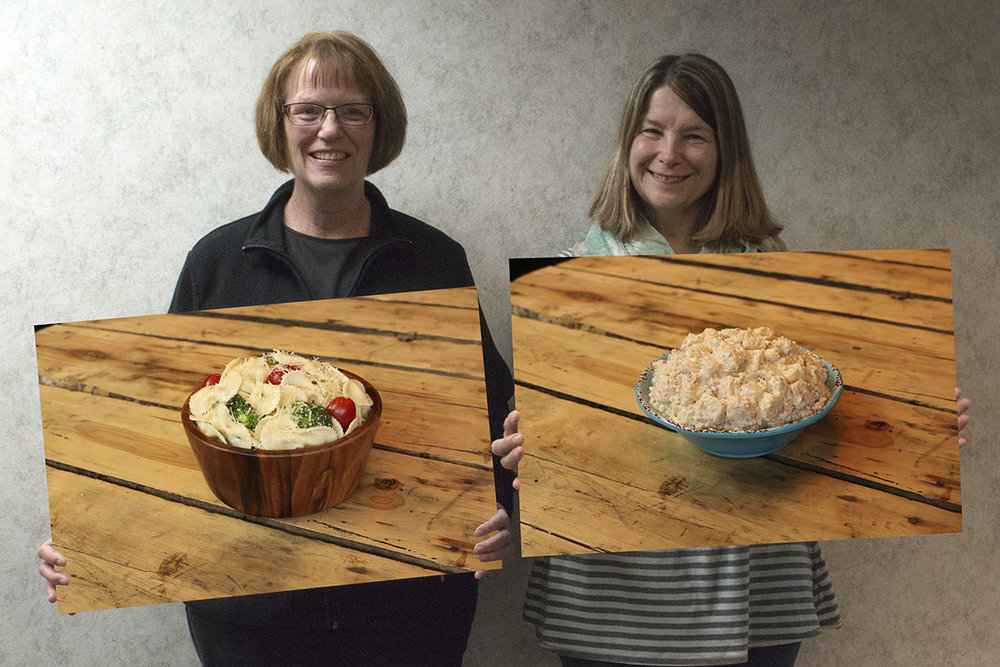 Donna, R&D Manager - Parmesan Bows Lillian, Technical Director - Bacon Blue Cheese Potato Salad