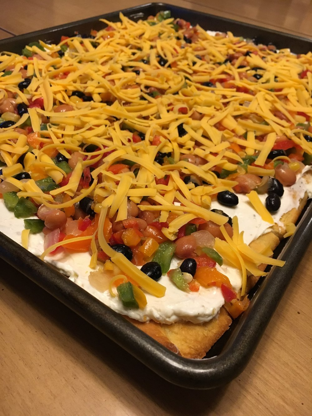 CLICK FOR RECIPE! Cowboy Caviar Veggie Pizza