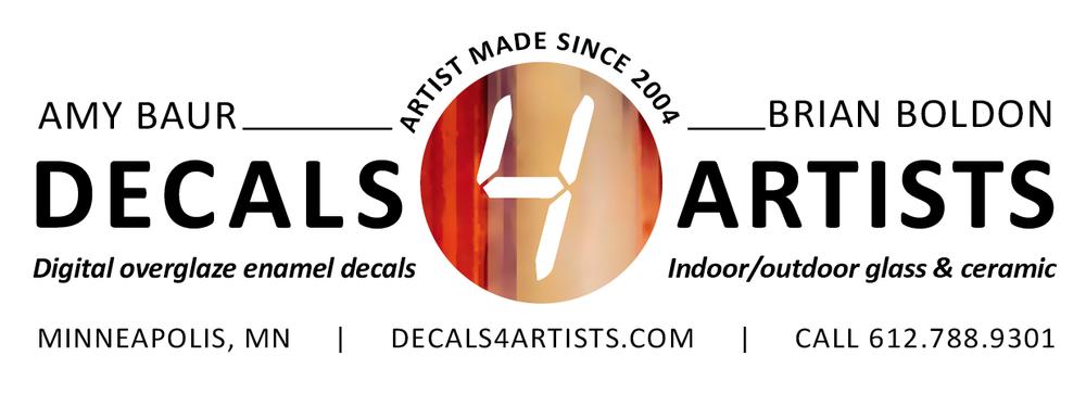 Ceramic decal custom art decals decals 4 artists