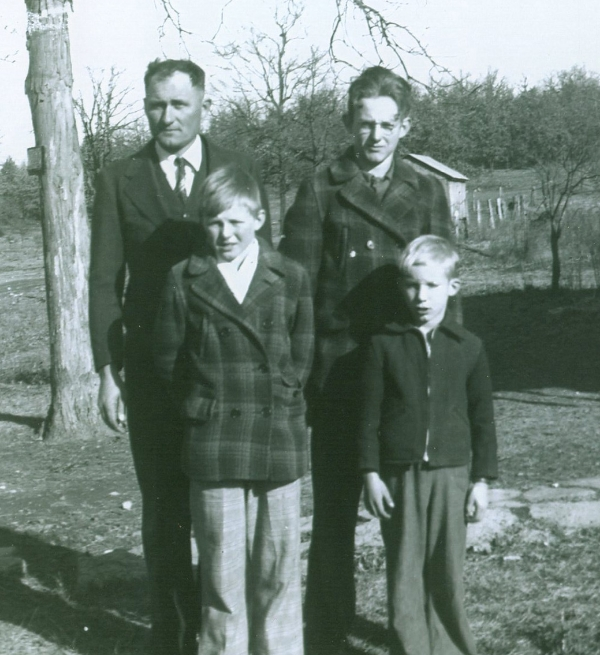 Dad (the littlest one) with his father and brothers