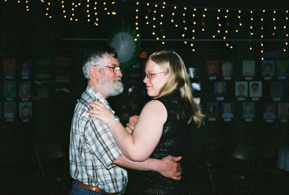Dad and Me at my 8th grade graduation dance. Photo by Cindy Mitchell.
