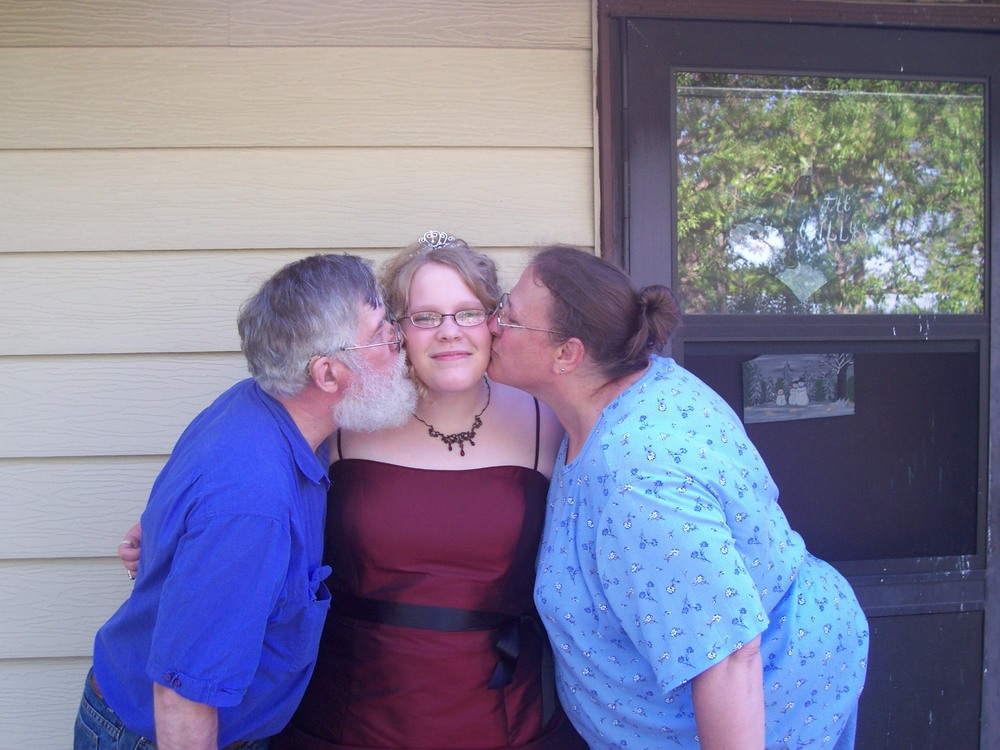 The three of us before my senior prom.