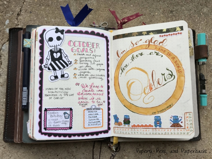 This is the opening of my October Monthly Spread. If you missed my post about my October spread, you should  check it out.