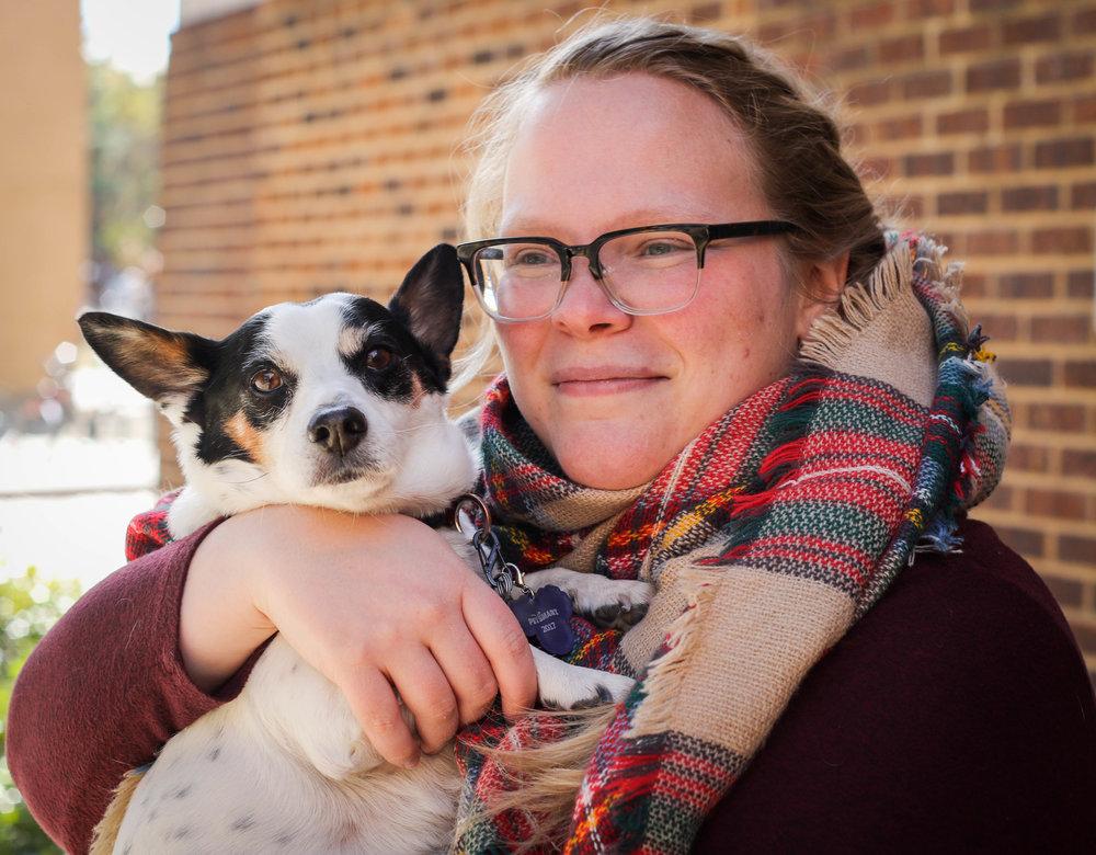 Kait and her service dog, Gary. Photo by Heidi Cephus, PhD.