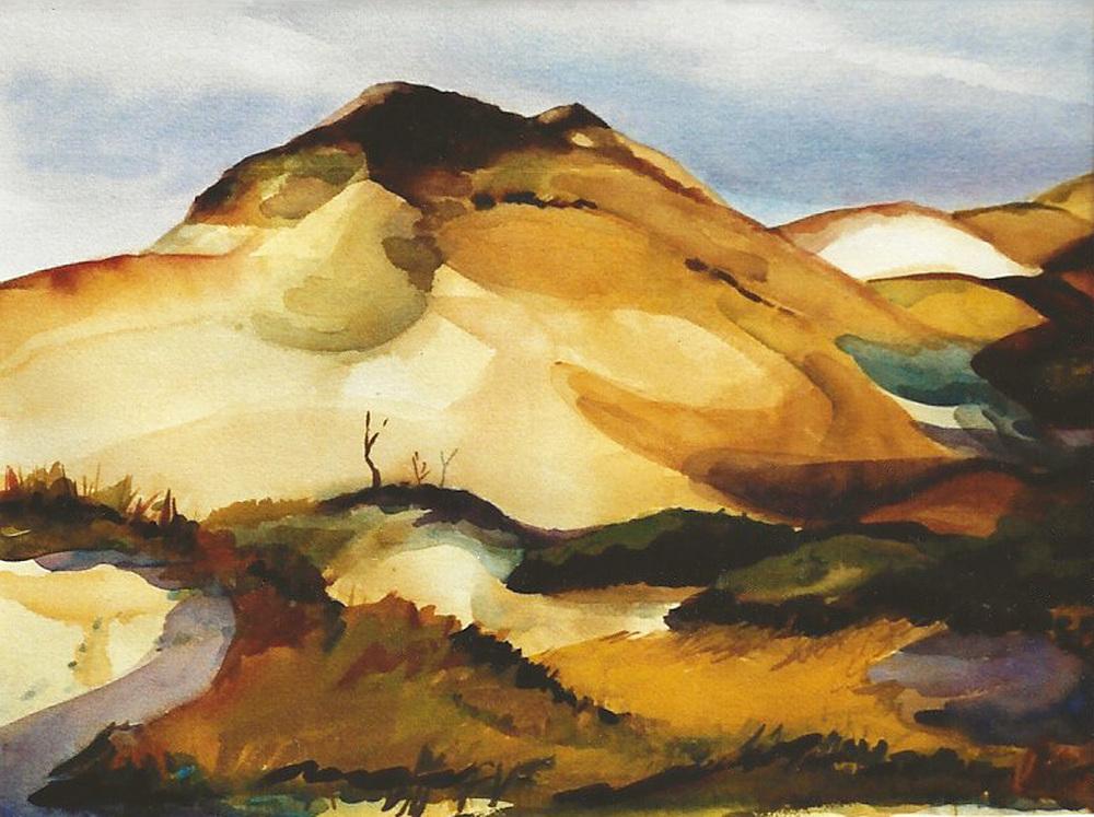 "Teresa Welch,  The Wisdom Of Mon-O-Lah , watercolor, 22"" x 30"", 1991"