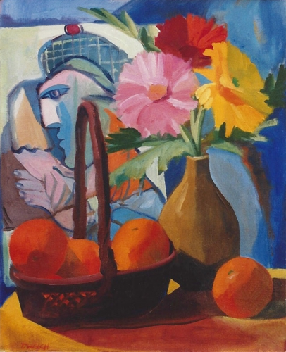 """Teresa Welch,  Picasso Still Life , oil/canvas,18"""" x 15"""", 1993"""