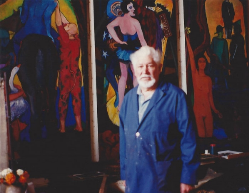 Salvatore Del Deo in his studio, Provincetown, MA, 2000  photo by Teresa Baksa