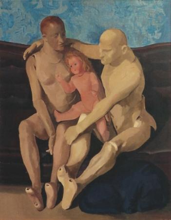 """Salvatore Del Deo,  Sacra Famiglia,  oil/linen, 60"""" x 48"""" , 1974"""