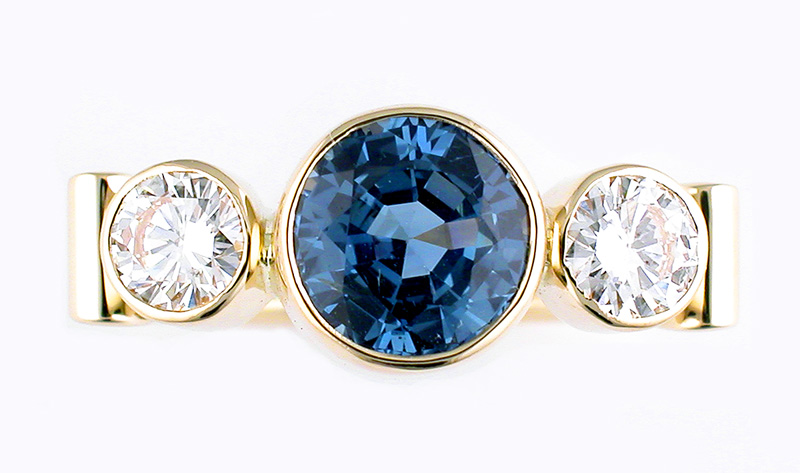 Michael Baksa, 2 ct. Ceylon Sapphire Ring, 14k, Baksa Studio
