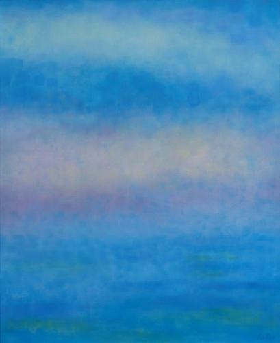 "Teresa Baksa,  Cerulean Sea , oil/linen, 20"" x 16"",2000"