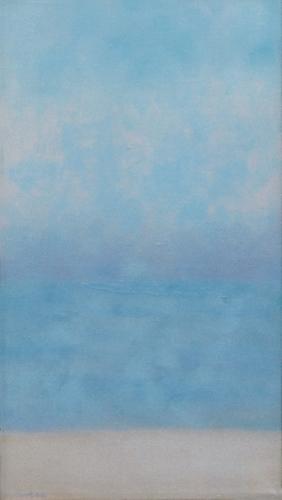 """Teresa Baksa,  Race Point Haze , oil/linen, 14"""" x 7"""",2001"""