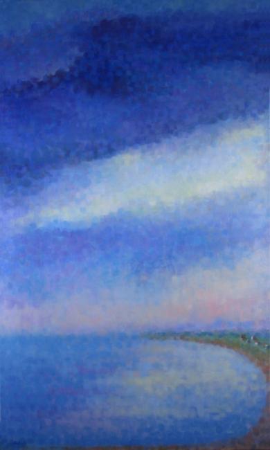 """Teresa Baksa,  September Morning,  oil/canvas, 60"""" x 36"""", 2001"""