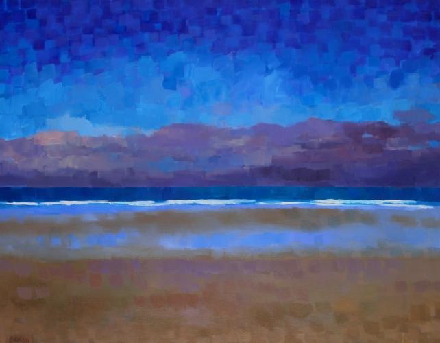 """Teresa Baksa,  Winter Horizon , oil/canvas, 28"""" x 36"""", 2004"""