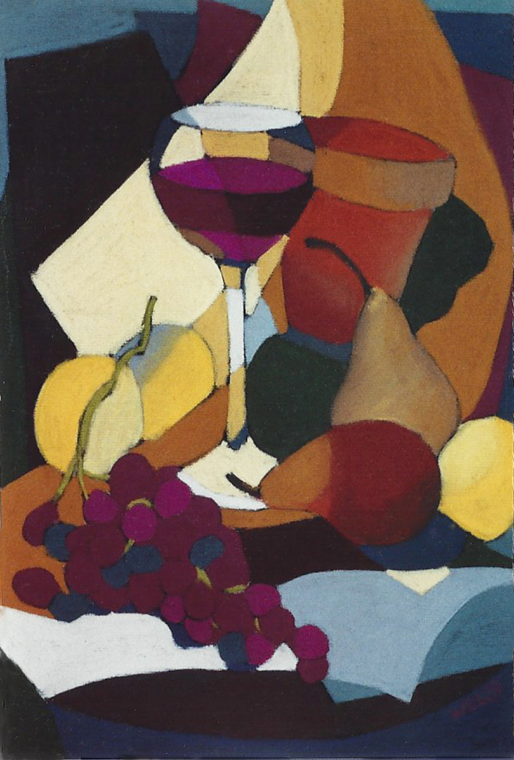 Wine Glass and Fruit