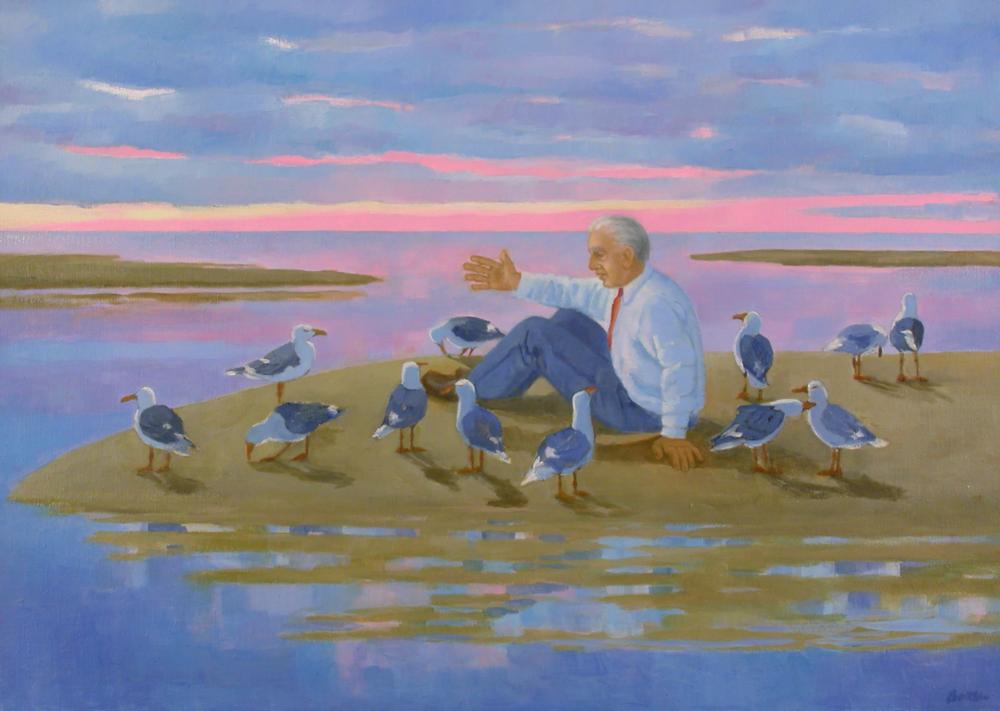 "Teresa Baksa.  The Last Meeting With Nature , oil/canvas, 24"" x 34"""