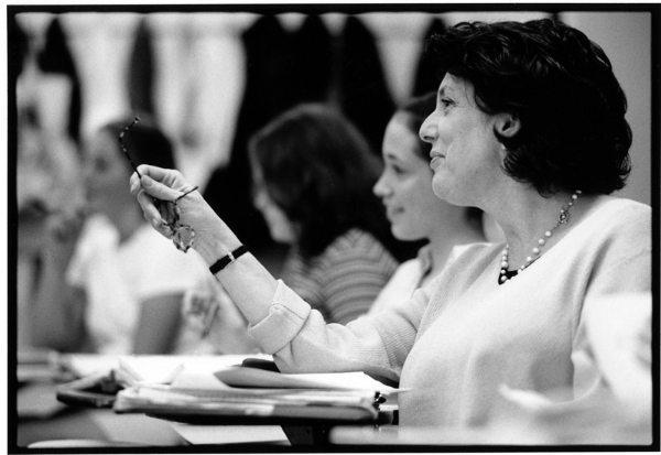Diane Bezan with her students in Math class, photograph by Margaret Lampert ,The Winsor School, Boston, MA