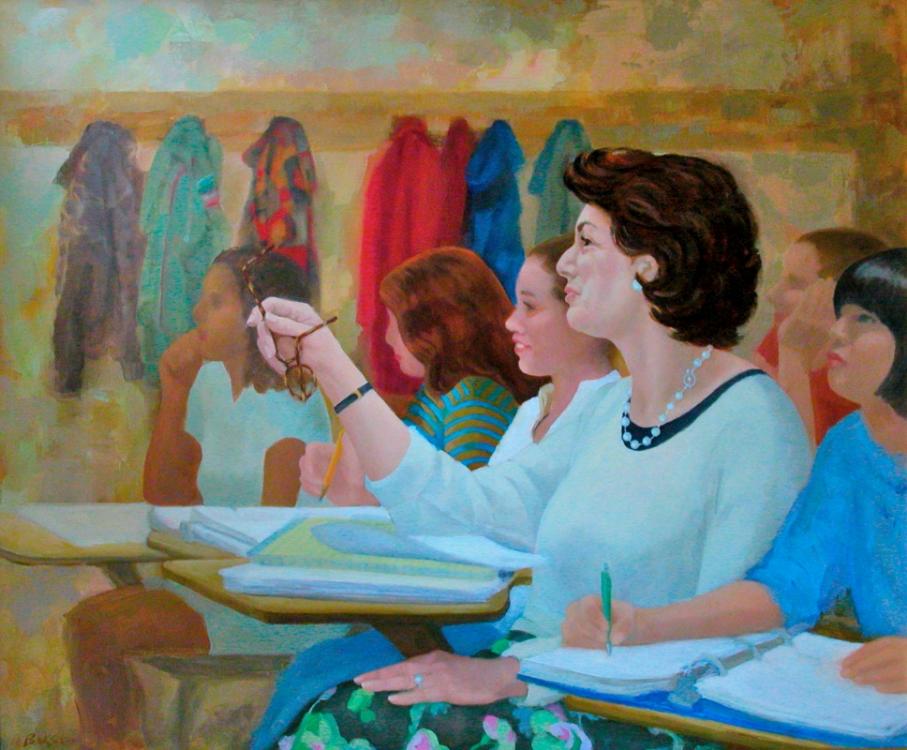 "Teresa Baksa,  Diane Bezan,  oil/linen ,  30"" x 36"""