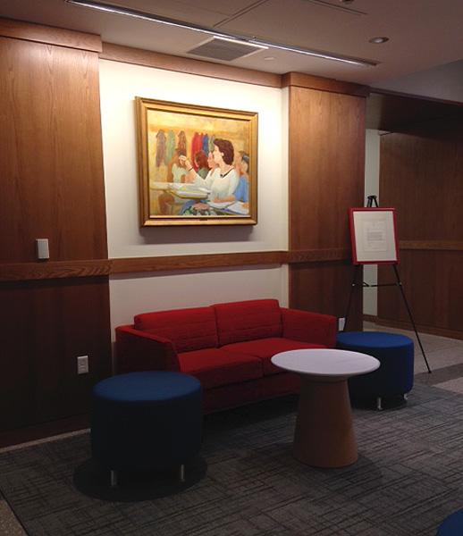 Diane Bezan Lounge, The Winsor School, Boston, MA. photo by Teresa Baksa 2016
