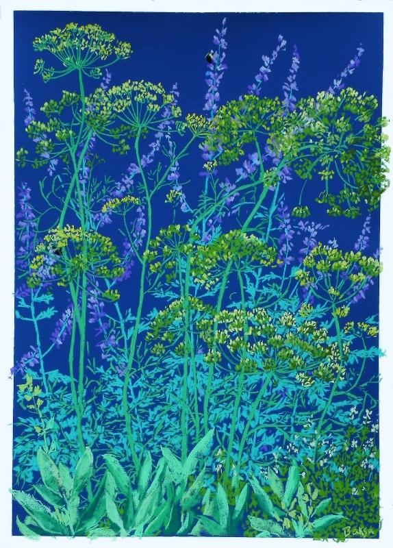"Teresa Baksa,  Herb Garden, Pastel on Colourfix Paper, 27"" x 20"""