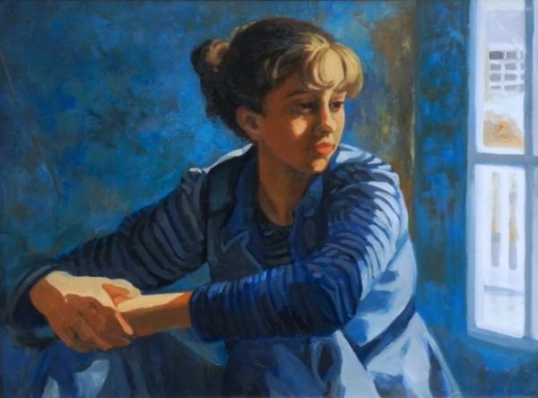"""Teresa Baksa,  Winter Light,  oil on linen, 18"""" x 24"""", 1997"""
