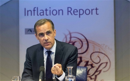 Photo: Mark Carney Presenting the Inflation Report, courtesy of MarketPulse