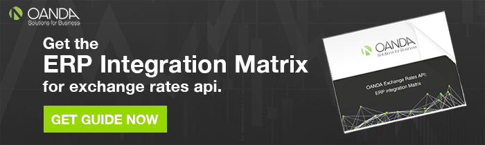 OANDA's ERP Integration Matrix for the Exchange Rates API