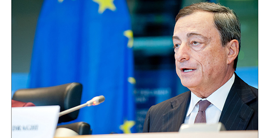 Draghi speaking about ECB rhetoric