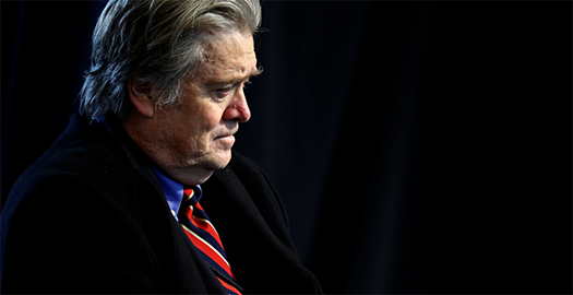 Steve Bannon was removed from the White House under the Trump administration.  Image by REUTERS/Jonathan Ernst as seen on The Week