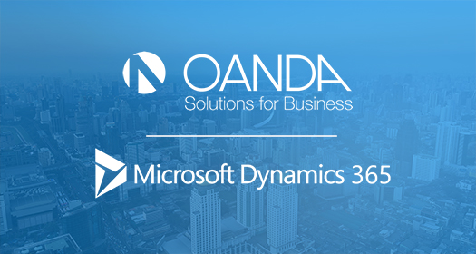 OANDA Exchange Rates API app now available on Microsoft Dynamics 365