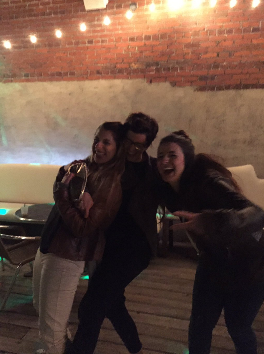 As caught by  Fraser  on our last night at  Creative South , from left to right,  Melissa ,  Alicja , and  Tara .
