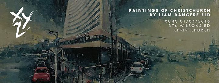 Liam Dangerfield ~XYZ Paintings of the city01.04.2016 - 27.04.2016 - His work seeks to capture an era in the cities life as it rebuilds around the remnants of the past and will be a long term project which will hopefully see him develop as an artist alongside Christchurch.