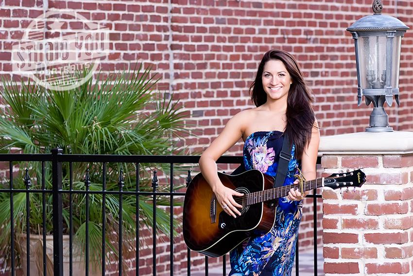 girl with guitar richardson senior portraits