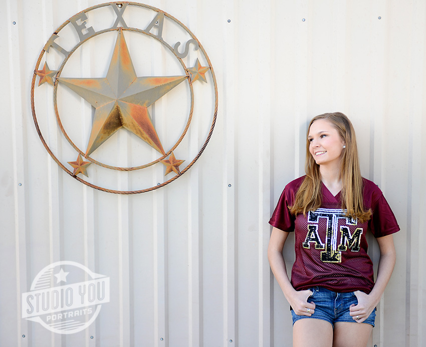 Texas senior portrait
