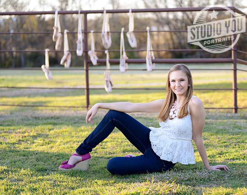 Ballet Shoes Senior Portraits Plano